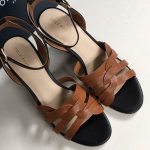 Cole Haan Shoes - NIB Cole Haan leather wedge sandals